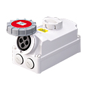 Interlocked Switched Sockets(Socket with Interlock Switch)(Socket with Switches and Mechanical Interlock) 32A 3P+E IP67 6H HTPZ1241