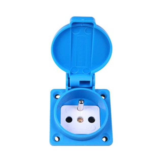 Belg./French Socket Outlet (French/Belgium Waterproof Socket)16A 2P+E IP54 with Children Protection