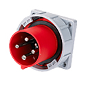 CEE Flange Inlet Straight ( Straight Panel Mounted Inlet)(Straight Flush Mounted Plug) 63A 3P+E IP67 6H HTN6341