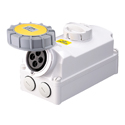 Interlocked Switched Sockets(Socket with Interlock Switch)(Socket with Switches and Mechanical Interlock) 32A 3P+E IP67 4H HTPZ1241-4