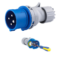 CEE Electrical Plug with Phase Inverter 32A 3P+E IP44 9H HTN724-9